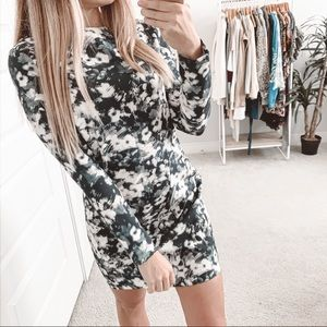 Zara Floral Long Sleeve Mini Dress